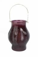 Vinröd Hänglykta H25xD11cm