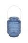 Blå Hänglykta - Liten H13xD4,5cm
