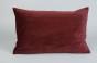 Ljusbrunt Kuddfodral 40x60cm - Vinröd