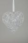 Hängande SilverHjärta D20cm - Silver