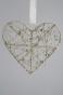 Hängande SilverHjärta D20cm - Guld