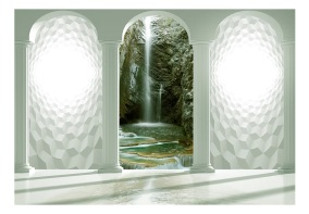 Fototapet - Emerald waterfall - B150xH105cm