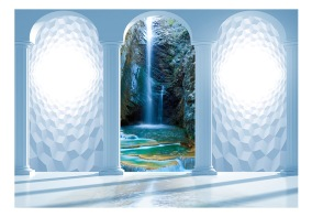 Fototapet - Heavenly waterfall - B150xH105cm