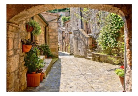 Fototapet - Provincial alley in Tuscany - B150xH105cm