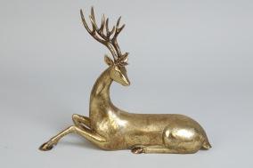 Guldfärgad Ren L34cm - Längd34cm