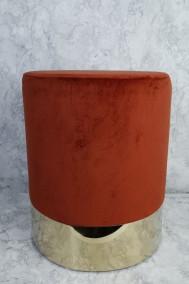 Rostfärgad sittpuff i sammet -