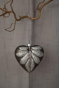 Silverfärgad Julkula