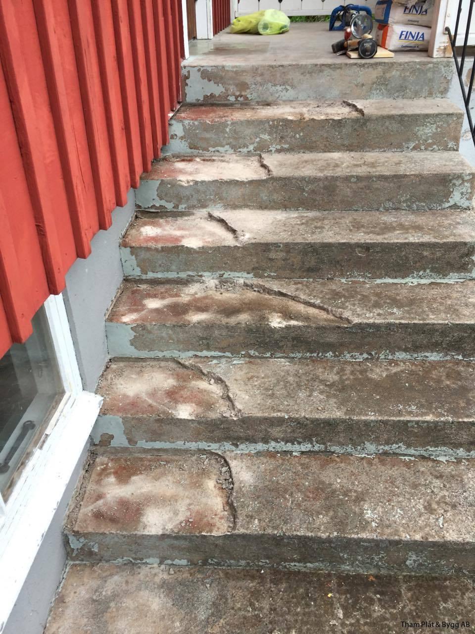 renovera betongtrappa inomhus