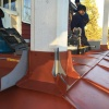 Balkong med stolpar