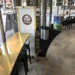 Cafébord fönsterbord mässning