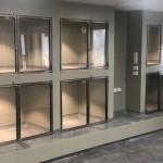 Glasdörrer till djursjukhus