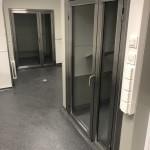 Rostfria glasdörrer