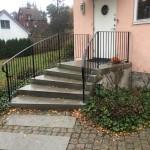 Svängt trappräcke