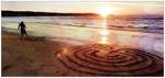 Mariettas labyrinter på stranden i Hemmeslöv 21x10 cm