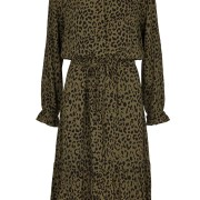 Tabitta Dress - Green/Leopard