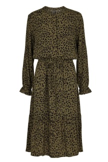 Tabitta Dress - Green/Leopard - Tabitta Dress - XS