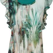 Palm Tshirt Malachite Green