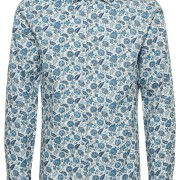 Marc Floral Print Ink Blue