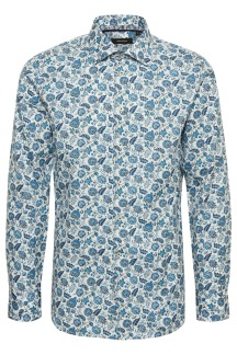 Marc Floral Print Ink Blue - Marc Floral Print Ink Blue S