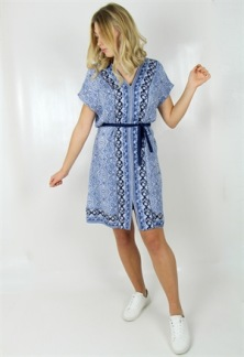 EMILY DRESS LAVENDER BLUE - EMILY DRESS LAVENDER BLUE XS