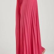 Plisserad byxa rosa
