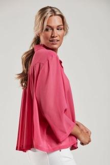 Blus med plisserad rygg rosa - Blus med plisserad rygg rosa M