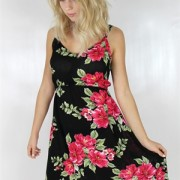 VALENCIA DRESS HAVANA RED/BLACK