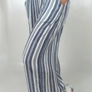 GIANNA PANTS DOVE BLUE/WHITE
