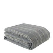 ANCEL BLUE CHECK Bedspread