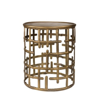 FRANCO Side table (2 colors) - FRANCO Side table Brass Aluminium