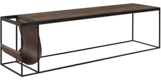 MAGAZINE BLACK Coffee table / Media bench (2 sizes) - MAGAZINE BLACK Coffee table / Media bench Short: w 130 x d 40 x h 45 cm.