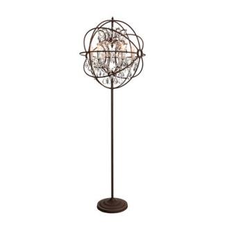 ROME CRYSTAL Floor Lamp - ROME CRYSTAL Floor Lamp Antique Rust/Chrystal