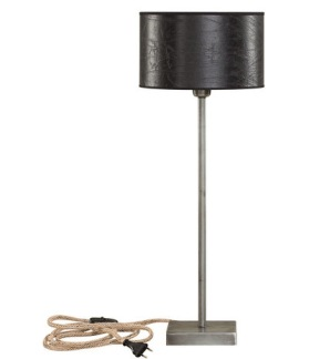 PEWTER LOW Table lamp - PEWTER LOW Table lamp Here with shade 82-60003-39