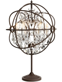 ROME CRYSTAL Table lamp (2 colours) - ROME CRYSTAL Table lamp Antique Rust/Chrystal