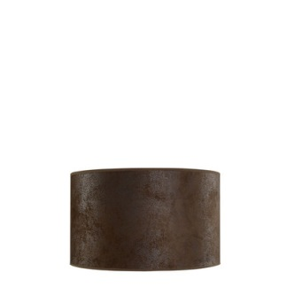 SHADE CYLINDER Brown suede ( 3 sizes) - SHADE CYLINDER Brown suede 25 x h 15