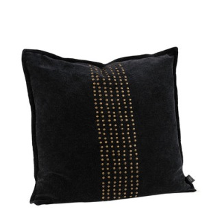 KELLY STUDS BLACK Cushioncover - KELLY STUDS BLACK 50*50