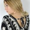 BAZAAR DRESS BLACK/SAND