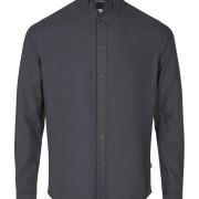 Shirt- Juan LS BD Herringbone Blue