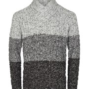 Knit - Farol Shawl Collar Black
