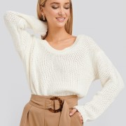 Open Back Knitted Sweater