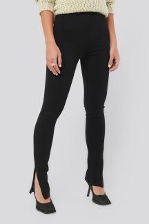 Zip Detail Long Jersey Pants - Zip Detail Long Jersey Pants S