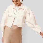 Puff Sleeve Oversized Denim Jacket