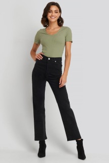 Straight High Waist Jeans - Straight High Waist Jeans 42
