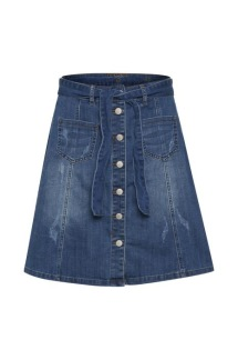 AlmaCR Denim Skirt - AlmaCR Denim Skirt 38