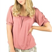 AMORY TOP PEACH ROSE