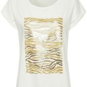 PiaCR T-shirt /svart & guld