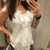 Nelly shirt vit, svart & marinblå - Nelly shirt vit XL