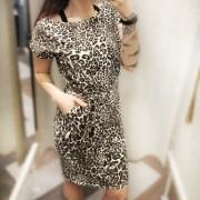 Leomönstrad klänning