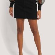 Minikjol I Denim svart