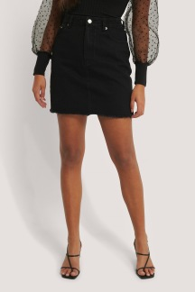 Minikjol I Denim svart - Minikjol I Denim svart 34